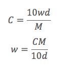 濃度変換の公式
