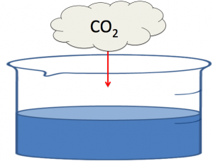 二酸化炭素の逆滴定