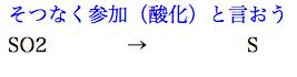 硫黄 酸化剤