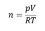 状態方程式 モル利用