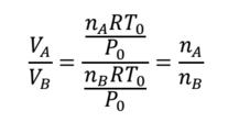 モル比=分体積比証明