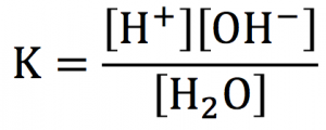 水の電離定数