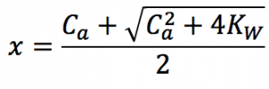 強酸 水素イオン濃度 厳密解