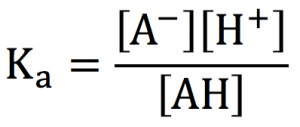 弱酸 電離定数