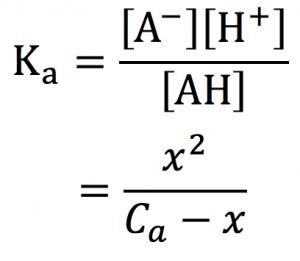 電離平衡 弱酸