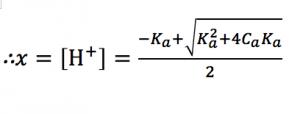 弱酸 水素イオン濃度 厳密解