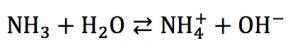 アンモニア 電離平衡 電離定数