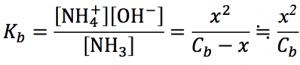 電離式 水酸化物イオン濃度