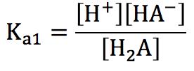 弱酸第1電離 電離定数