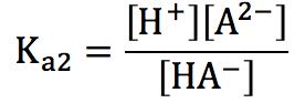 弱酸第2電離 電離定数