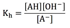 塩の加水分解定数