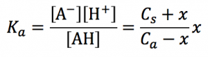 緩衝液 電離定数