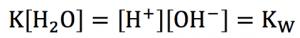 水のイオン積 式