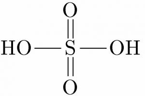 硫酸 構造式