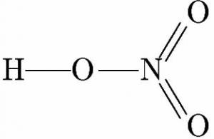 硝酸 構造式