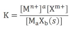 溶解平衡 平衡定数