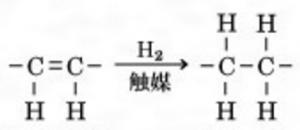 アルケン 水素付加