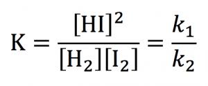 反応速度定数 平衡定数