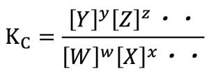 濃度平衡定数