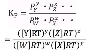 圧平衡定数 濃度平衡定数 関係性