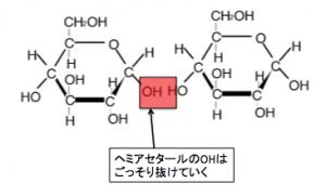 ヘミアセタール,グリコシド結合