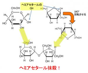 グリコシド結合,スクロース,ヘミアセタール