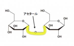 グリコシド結合 アセタール