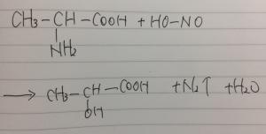 アミノ酸,ジアゾ化