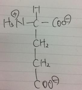 グルタミン酸,陰イオン