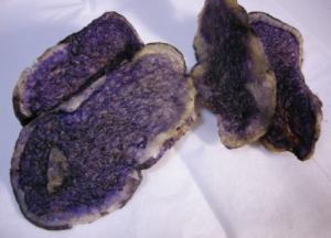 ヨウ素デンプン反応,青紫色