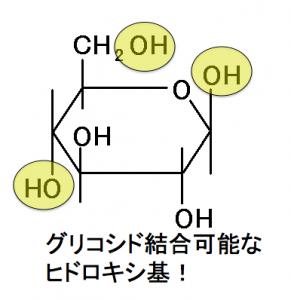 グリコシド結合,ヒドロキシ基