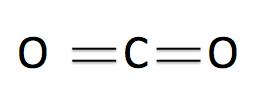 二酸化炭素は直線構造