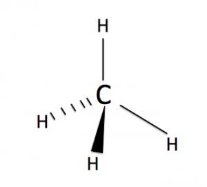 メタンの分子構造