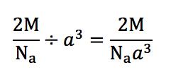 体心立法格子の密度計算