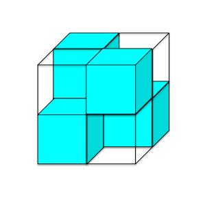 ダイヤモンド構造の原子が入る部屋