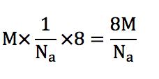 ダイヤモンド型構造の密度の求め方