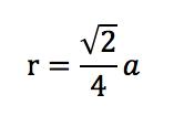 面心立方格子の充填率