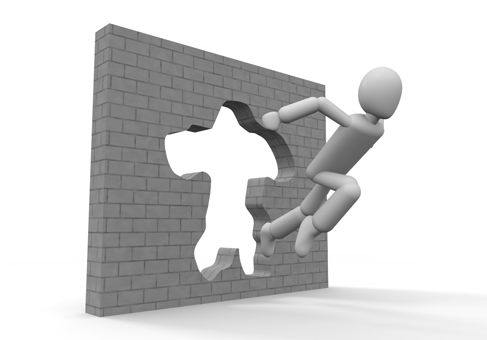 壁を突破する