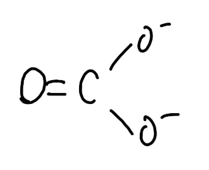 炭酸イオン