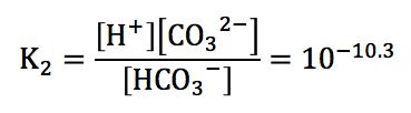 炭酸の第2電離の電離定数